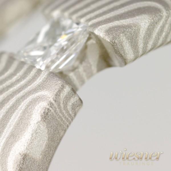 Trauringe Bagassa | Mokume Gane | Palladium Silber
