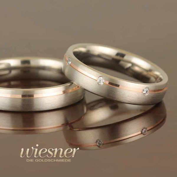 Gerstner Wedding Rings Bicolour with Diamond 28646