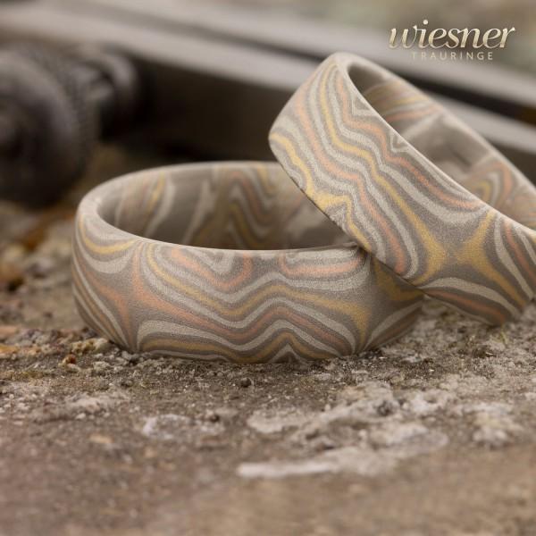 Farbenfroh und wild - Mokume Gane Ringe vom Meister