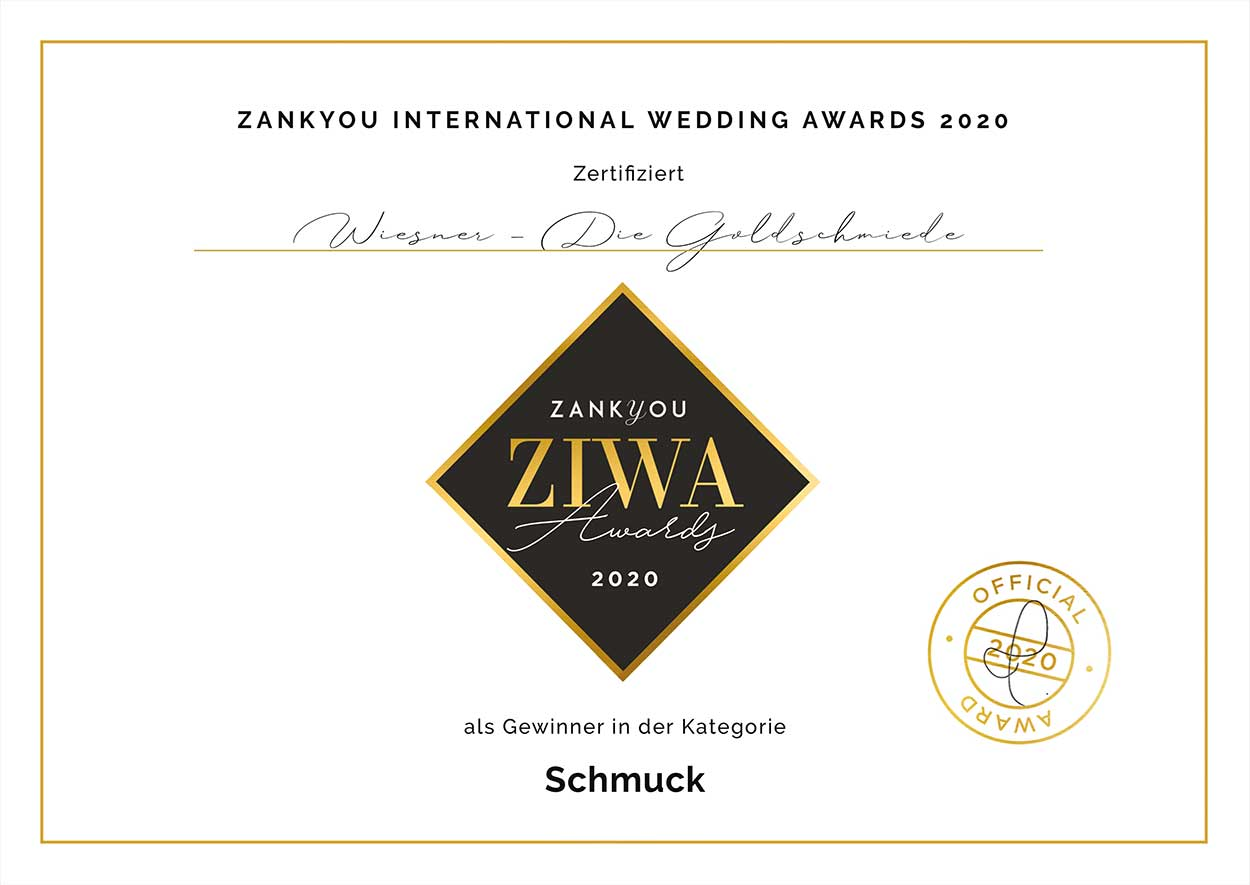 Goldschmiede Wiesner gewinnt ZIWS Award 2020
