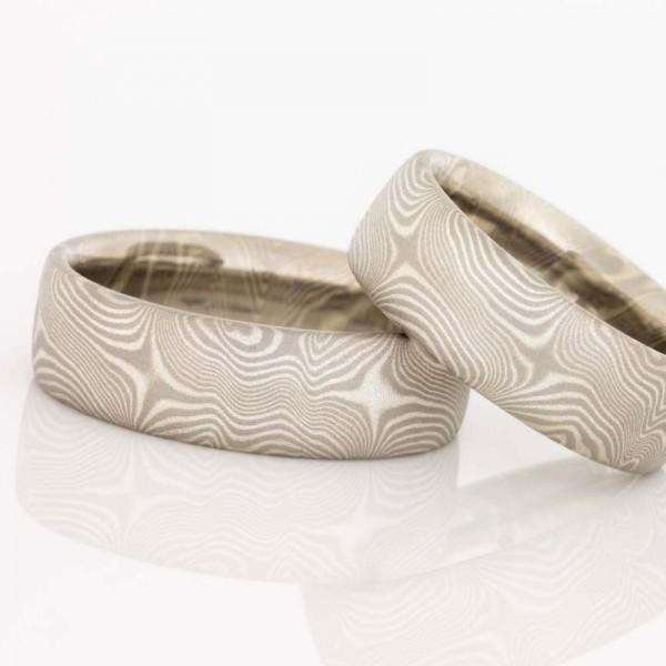 Spannende Musterung - Mokume Gane Ringe wild und lebendig