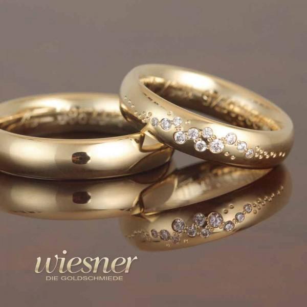 Gerstner Trauringe Weißgold mit Diamanten 28622