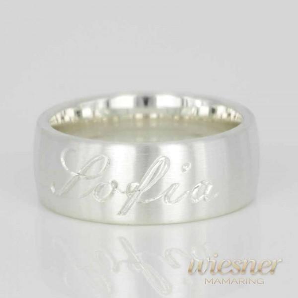 Geschenk zur Geburt für die Mutter | Individualisierter Ring Silber