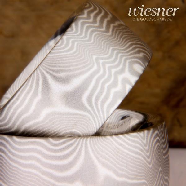 Schlicht und Elegant | Mokume Gane Ringe mit feinem Muster